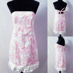 Lilly Pulitzer Dream Weaver butterfly dress size 8